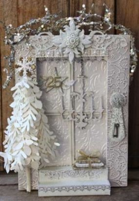 might try to make this...pretty: Christmas Cards, Homemade Christmas Gifts, Christmas Crafts, Gifts Ideas, Christmas Doors, White Christmas, Christmas Paper, Crafts Stores, Christmas Ideas