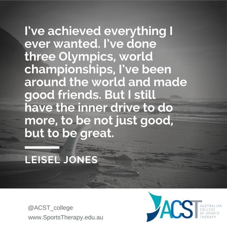 Sports Therapy motivational quote from an Aussie Sports star