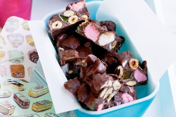 Rocky road is one of our most popular searches on taste.com.au. Try this gorgeous jewelled version using colourful jube lollies.