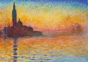San Giorgio Maggiore At Dusk by Claude Oscar Monet