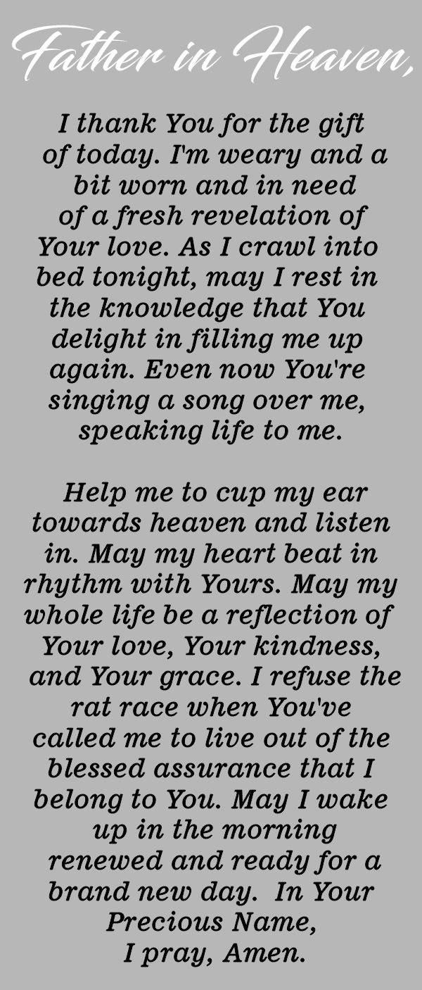 Pray this Powerful Prayer Before Going to Bed Every Night