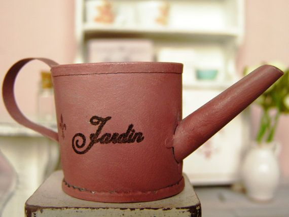 Dollhouse Miniature watering can  12th scale by DewdropMinis