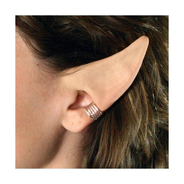 Handmade Anime Elf Ears latex ear tips, great for cosplay, costumes,... ❤ liked on Polyvore featuring costumes, christmas costumes, christmas halloween costume, elf halloween costume, latex halloween costumes and santas helper costume