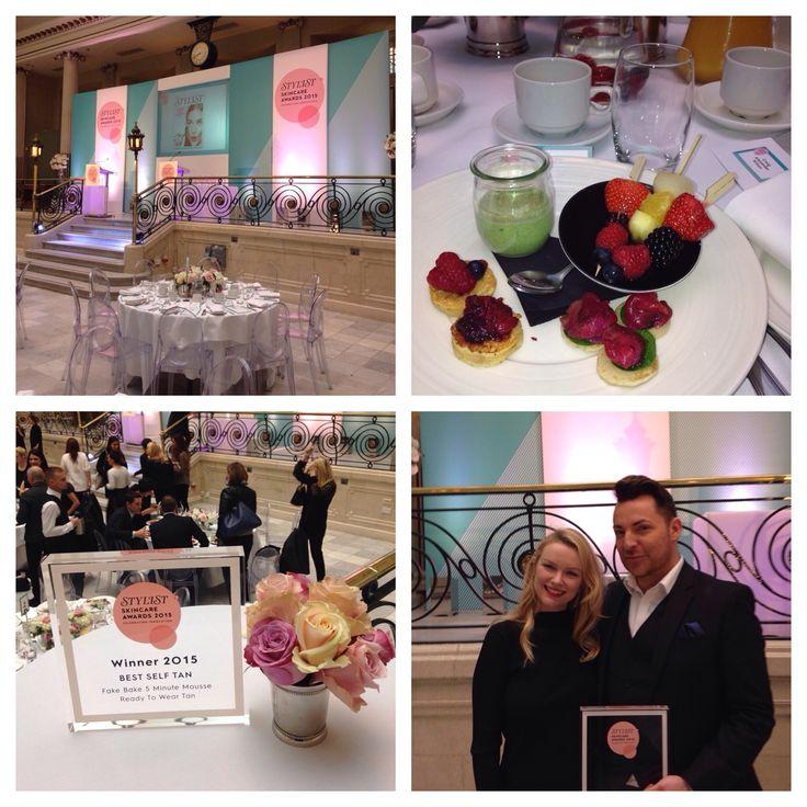 Stylist Skincare Awards 2015 - Winners' Breakfast. Fake Bake Five Minute Mousse won the award for Best Self Tan.