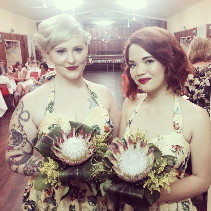 Beautiful bridesmaids! Bouquets by Bonnie's Bits & Blooms Email: bonniesbitsandblooms@hotmail.com