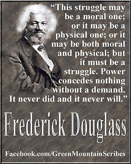 Frederick Douglass, we can learn much from the brilliant Abolitionist who blazed freedom's trail before us.  Abolish Human Abortion Now.