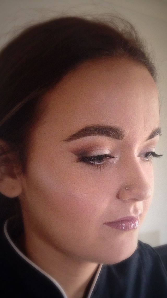 Makeup by Toni Priaulx on chels for a practice look for deb.