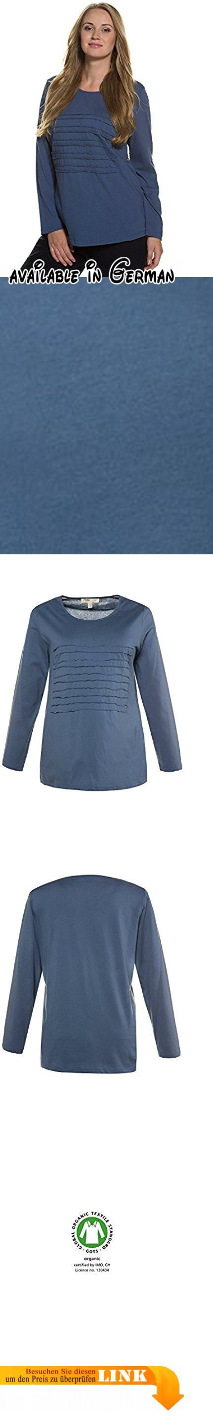 Ulla Popken Damen große Größen   Shirt   Bio-Baumwolle, Jerseystreifen   Regular Fit   bis Größe 58+   graublau 42/44 707664 71-42+. <p>Basic Damen Sweatshirt aus Bio-Baumwolle ideal für den Alltag geeignet. </p><p>Applizierte Jerseystreifen dezent in den Farben des Shirts. </p><p>Das Damen Oberteil hat einen Rundhalsausschnitt & lange Ärmel. </p><p>Die gerate Schnittform bietet hohen Tragekomfort mit viel Bewegungsfreiheit. </p><p>Größenangepasste Länge: ca 68