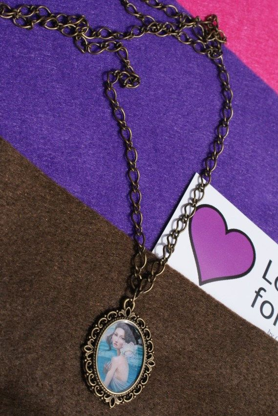 Handmade necklace made from glass and metal by LoveFor on Etsy