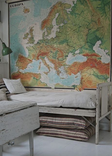 we love this vintage giant map!