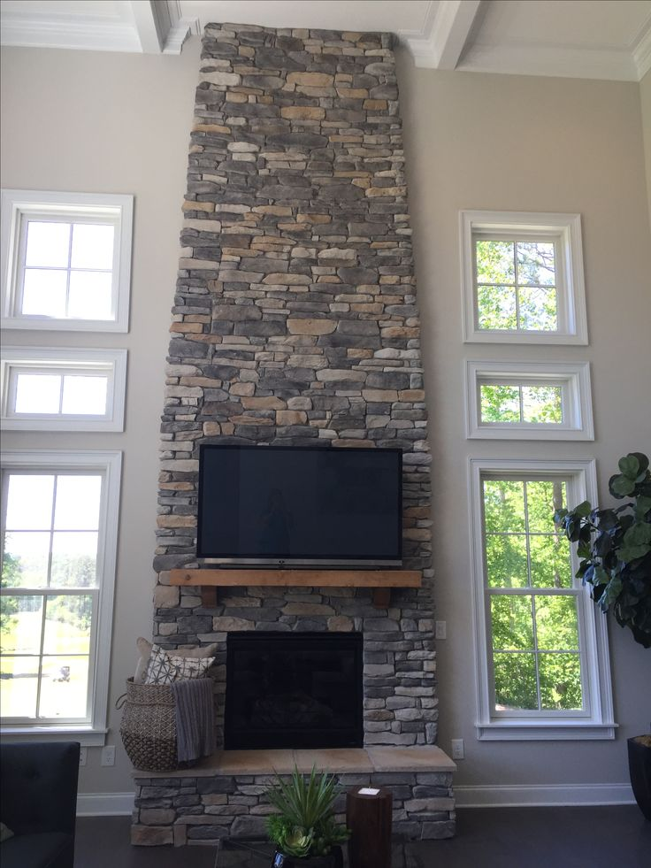 17 best ideas about stacked stone fireplaces on pinterest stacked rock fireplace stone - Stacked stone fireplace designs ...