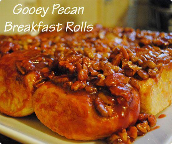 Easy, Sticky and Gooey Pecan Rolls | Breakfast/Snacks | Pinterest