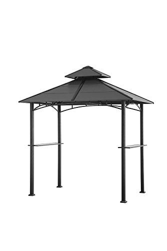 Sunjoy D GZ238PST 10 B 81 X 52 Bellevue Hardtop Grill Gazebo Black Check More At Farmgardensuperstore Product Gz2