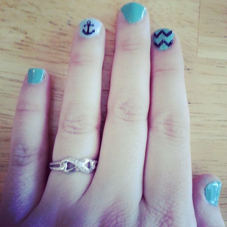 19 best Cute nail ideas♥ images on Pinterest | Anchor, Chevron ...