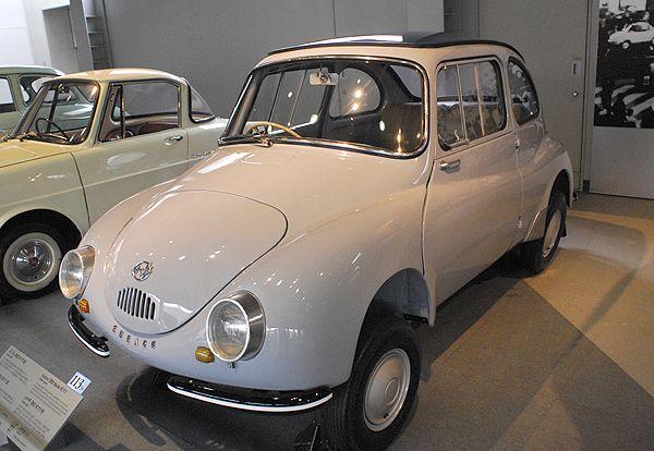 Subaru 360. While Fuji Heavy Industries produced their first car in 1954, they didnt achieve volume success until they released the Subaru 360. #MelvilleSubaru #360 #Subaru