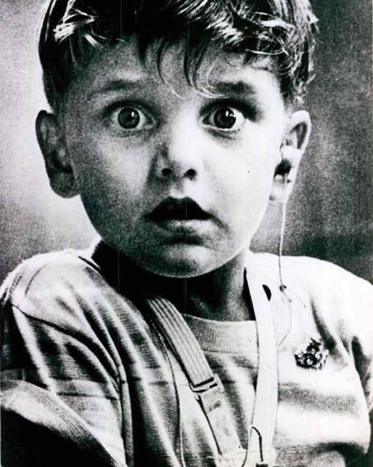 The exact moment 5 year old Harold Whittles hears for the first time with the use of a hearing aid. Photograph by Jack Bradley, published 1974. #HaroldWhittles #JackBradley #photography #blackandwhitephotography