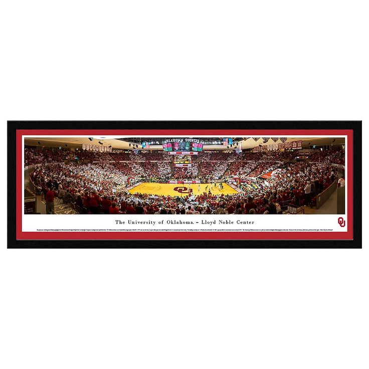 Oklahoma Sooners Basketball Arena Framed Wall Art, Multicolor