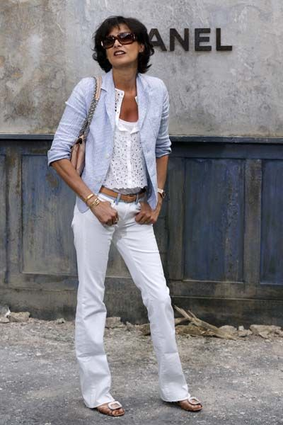 Inès de La Fressange...Parisian style is perfect for anyone and especially for mature women. It is timeless and elegant.