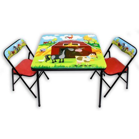 Gener8 Barnyard Kids Folding Table Amp Chairs Set