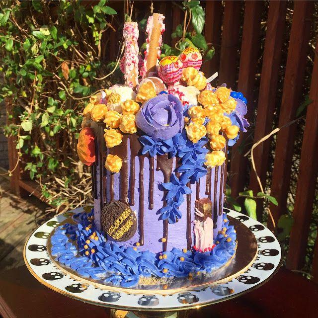 The Perfect Bite Bake Shoppe : Purple Explosion Cake