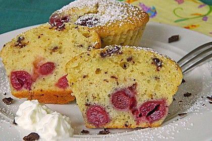 Stracciatella - Kirsch Muffins (Rezept mit Bild) von garfield84   Chefkoch.de