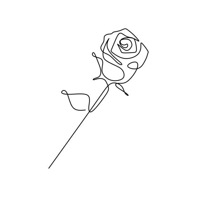 Download This Continuous Line Drawing Of A Rose Stylized Outline Romantic Transparent Png Or Vector Fi In 2020 Line Art Drawings Roses Drawing Minimal Tattoo Design