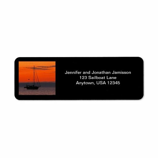 SOLD! Sailboat at Sunset Return Address Labels - This beautiful photo of a sailboat at sunset was photographed in Mexico. What a wonderful anniversary, engagement, housewarming, or wedding gift, or label to mail invitations or thank you notes. All Rights Reserved © 2013 Alan & Marcia Socolik. See more at www.zazzle.com/SocolikCardShop*.  #Sailboats #Sunsets #Photography #Mexico