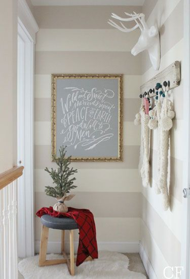 How cute is this hallway?