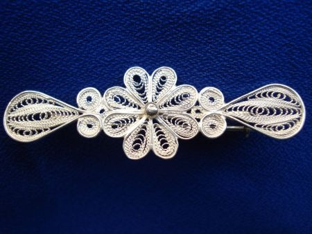 Silver filigree Brooch