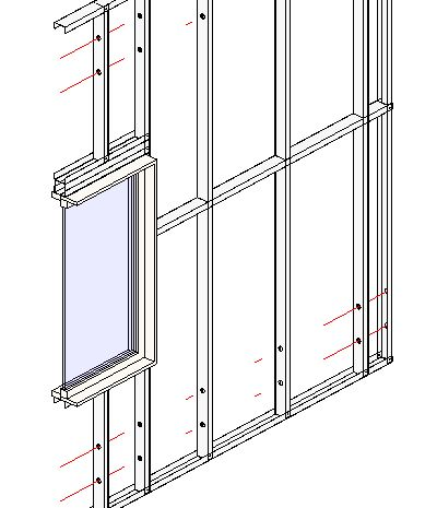 Framing Revit® Walls with Steel Studs & Plates | Metal Framing Wall+  | AGACAD TOOLS4BIM