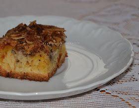 Proste ciasto z jabłkami i orzechami włoskimi