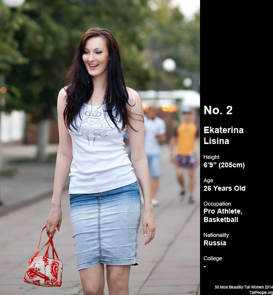 Ekaterina lisina 6 9 tall women female height for Model height
