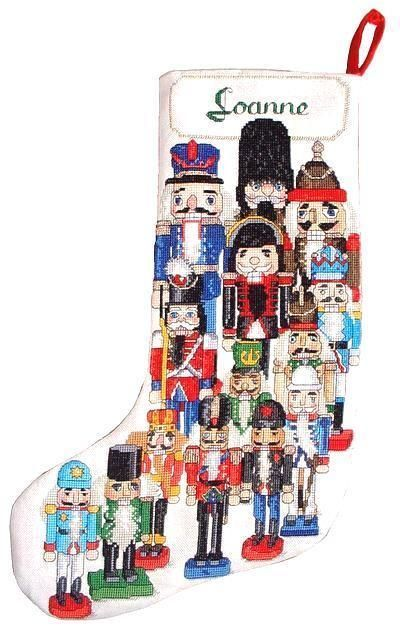 NUTCRACKER CHRISTMAS Stocking CHART Counted Cross Stitch Pattern NEW X's & Oh's