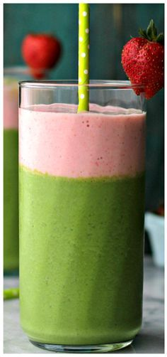 Green Berry Smoothie     Green Berry Smoothie – Wake up to a delicious protein boost with this yogurt-based smoothie that's loaded with kale, strawberries, bananas and apples.  https://www.pinterest.com/pin/186547609541647217/  Also check out: http://kombuchaguru.com