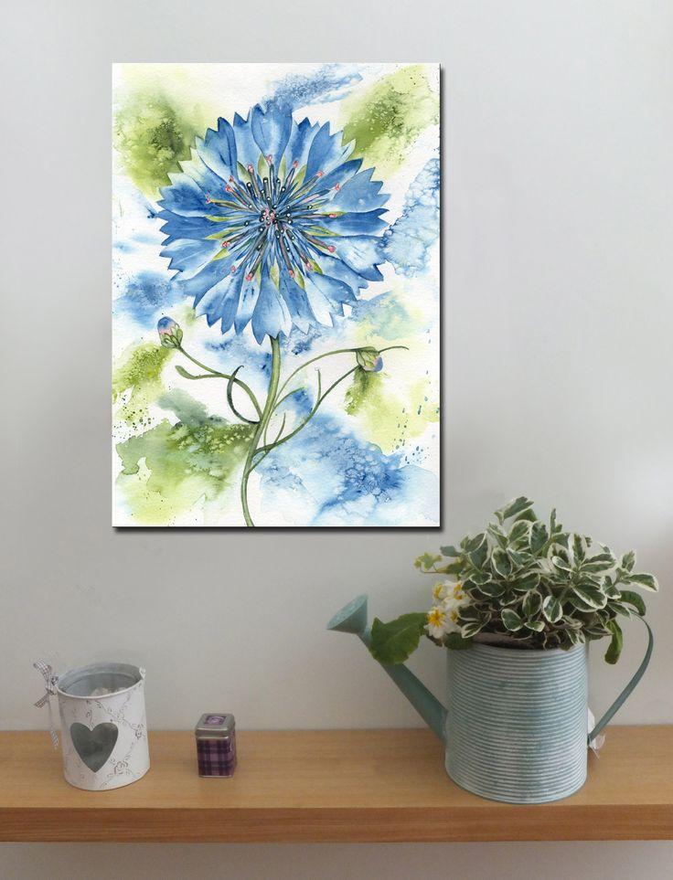 CORNFLOWER http://www.splashyartystory.com/shop/art-prints/cornflower-art-print-of-painting/