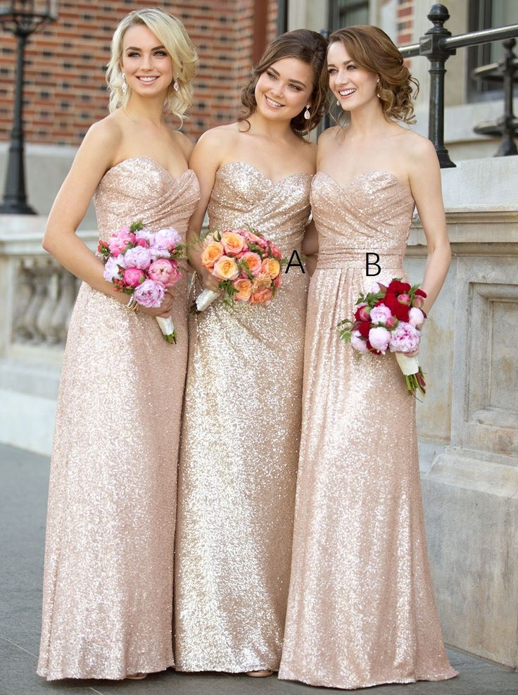 Bridesmaid dresses gold long necklace