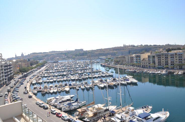 The beautiful view of the Ta' Xbiex Marina. #Malta #yachting