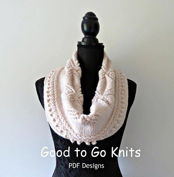 Knitting Pattern  Cowl  PDF Download by Goodtogoknits on Etsy