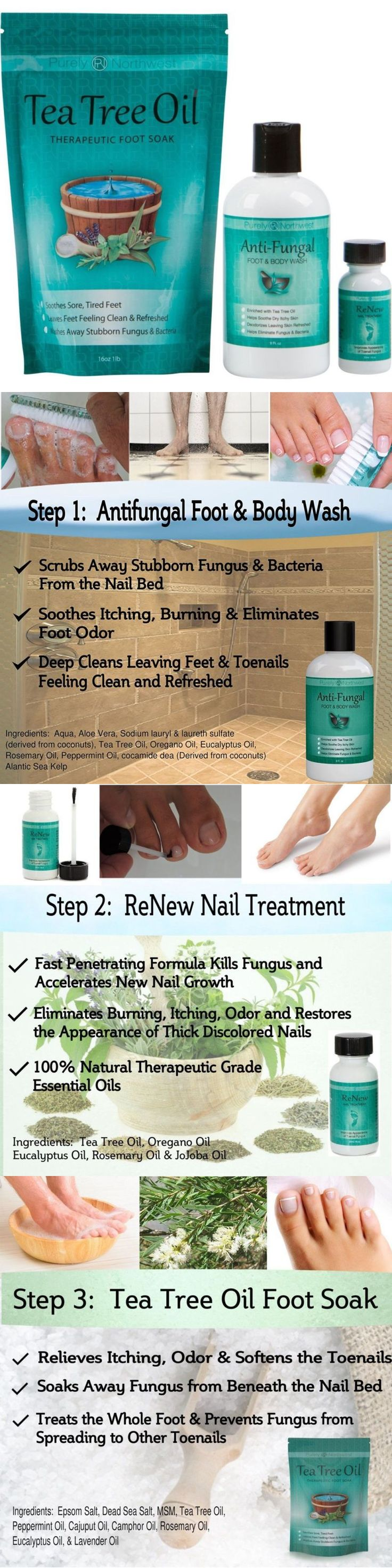 Foot Creams and Treatments: Toenail Fungus Treatment With Antifungal Soap, Tea Tree Oil Foot Soak And Renew -> BUY IT NOW ONLY: $35.68 on eBay!