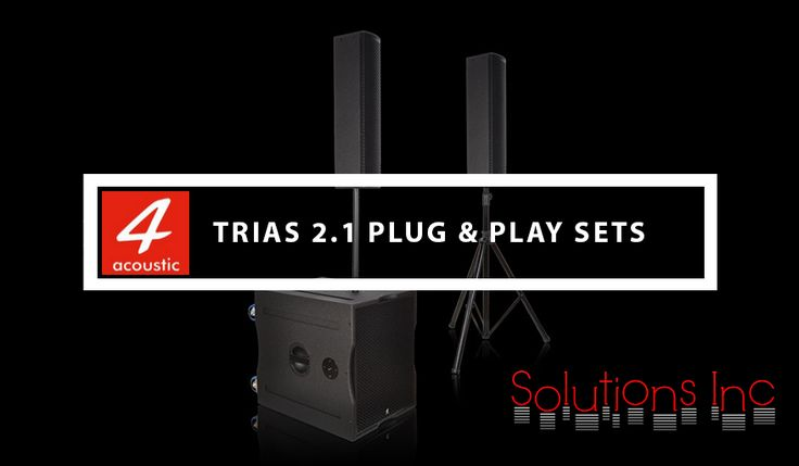 #AcousticTRIAS are powerful active Plug & Play systems based on our #activesubwoofer range PCS-11XBA and different type of #satellitespeakers. The delivery contents a M20 distance tube, a speaker tripod and two 10 meter long speaker cables. Transport bags for the sub and the satellite speaker are optional available.