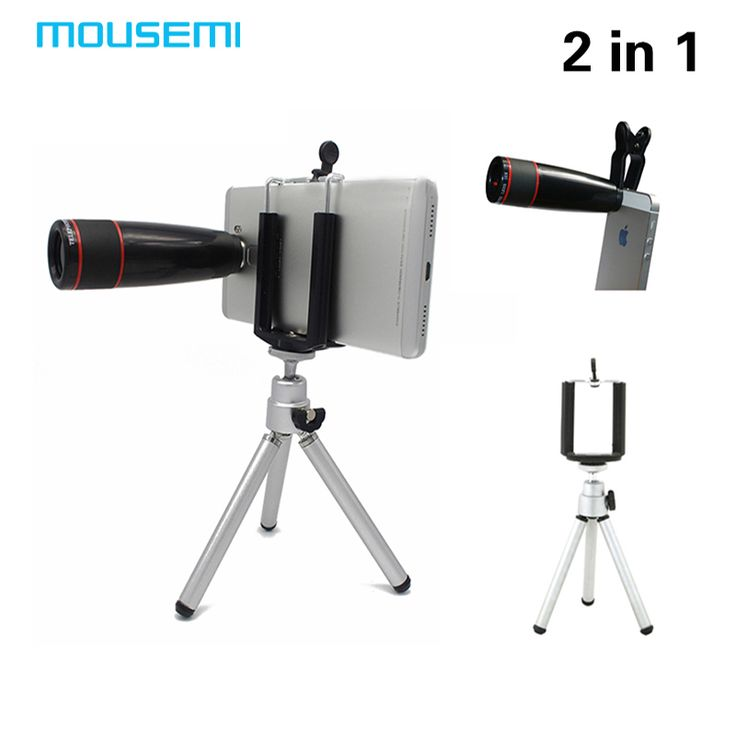 2in1 12X Zoom Camera Telephoto Telescope Lens with Tripod Mobile Phone Telescope Lens Clip On 12x Zoom for iPhone Samsung Lenses //Price: $US $11.42 & FREE Shipping //     #hashtag2