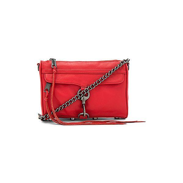Rebecca Minkoff Mini Mac Bag ($195) ❤ liked on Polyvore featuring bags, handbags, shoulder bags, handbags shoulder bags, leather handbags, red shoulder bag, red handbags and handbag purse