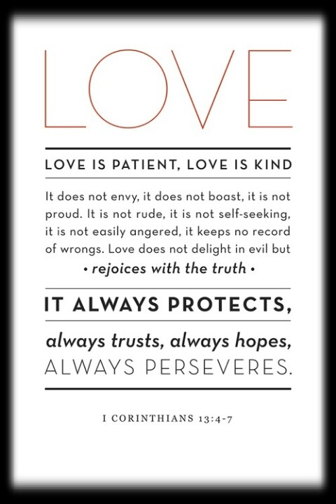 Love is patient love is and corinthian on pinterest