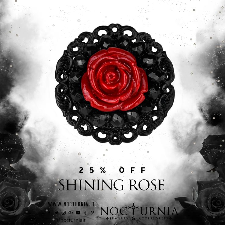 "The ring ""SHINING ROSE"" is 25% OFF only on our shop! Click here http://bit.ly/shiningrose Worldwide Shipping #nocturniait #blacksummersale"