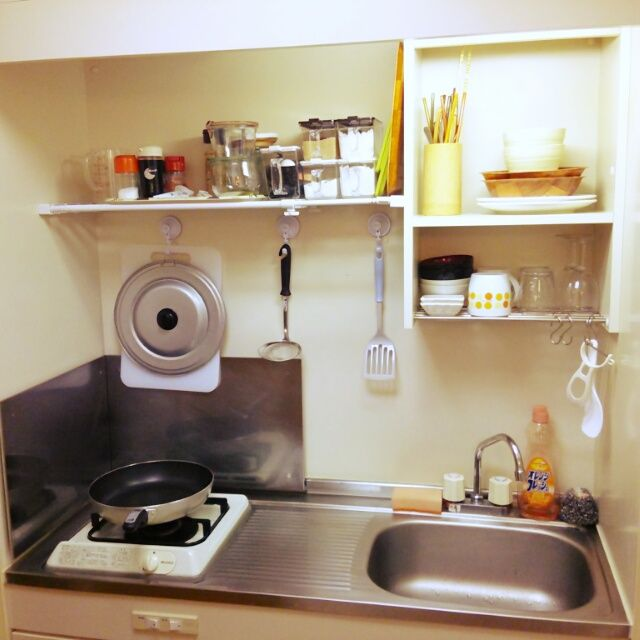 Stainless range draining board sink cbk with draining she above great for small living  RoomClip(ルームクリップ)