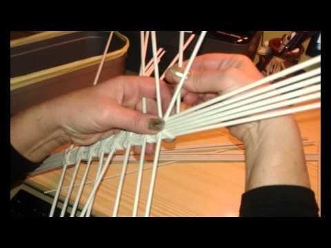pletení z papíru oválné dno fotonávod Mikyna