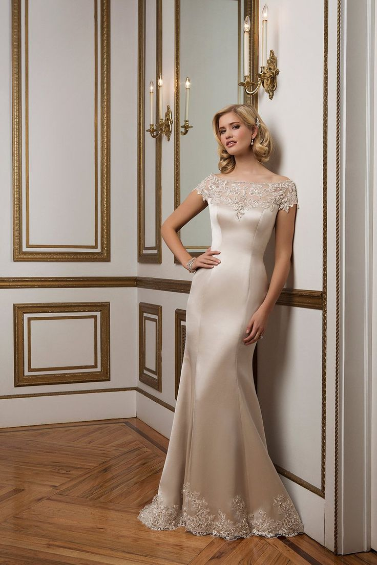 Justin Alexander wedding dress for mature brides
