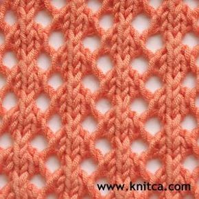 "#Knitting_Stitches #Lace - ""So Simple and So Lovely! Apenas duas linhas para aprender ..."