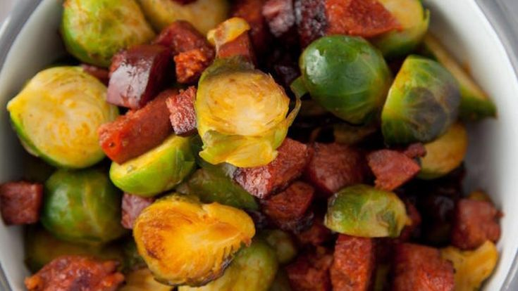 If you're looking for a new Brussels Sprouts recipe, then this recipe from SuperValu Ambassador Kevin Dundon for Brussels Sprouts with Cranberries, Chorizo and Bread could be the ticket for Christmas dinner. You never know, with this recipe for Brussels Sprouts, you may even convert some non Brussel Sprout eaters to give them a go!