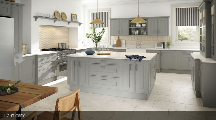 An in-frame effect Sheraton kitchen, with a smooth painted finish and available in a range of colours.  To see more colours please visit http://www.sheratonkitchens.co.uk/kitchens/edwardian-painted